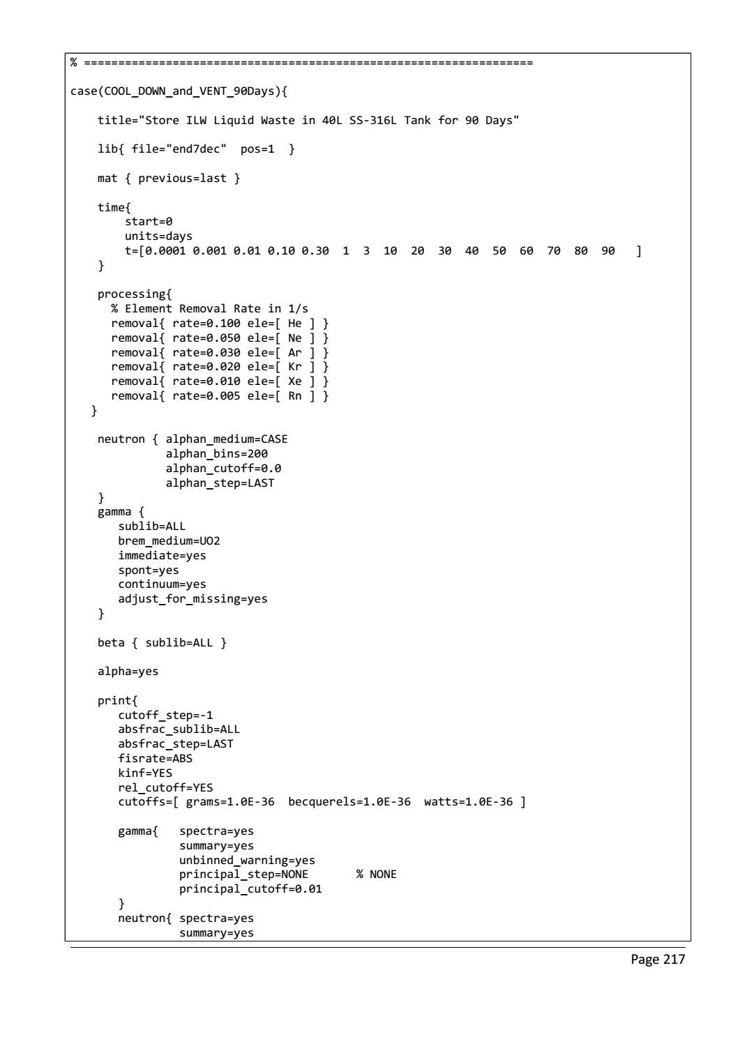 RADIOACTIVE WASTE: COMPUTATIONAL CHARACTERISATION and SHIELDING page 242