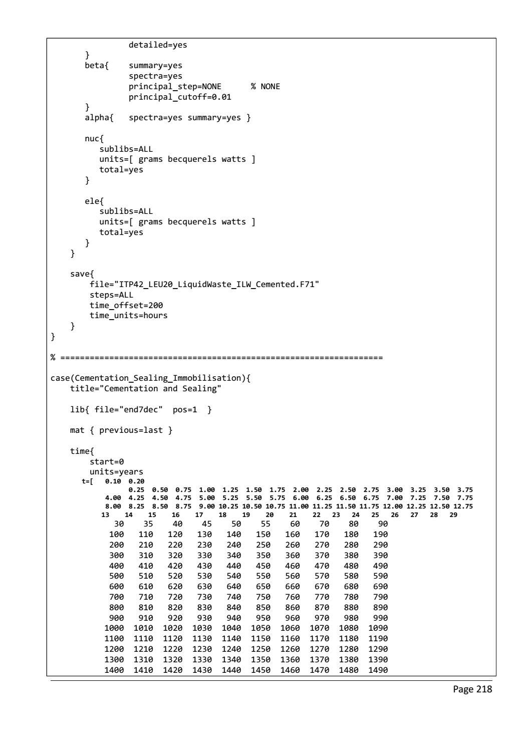 RADIOACTIVE WASTE: COMPUTATIONAL CHARACTERISATION and SHIELDING page 243