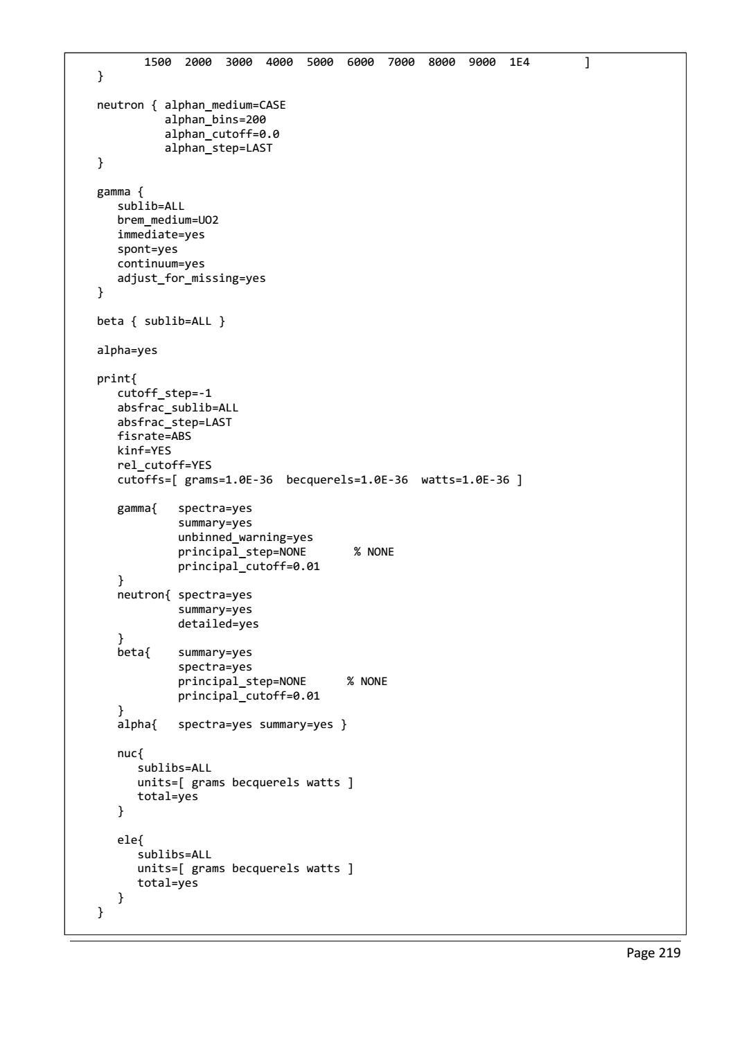 RADIOACTIVE WASTE: COMPUTATIONAL CHARACTERISATION and SHIELDING page 244