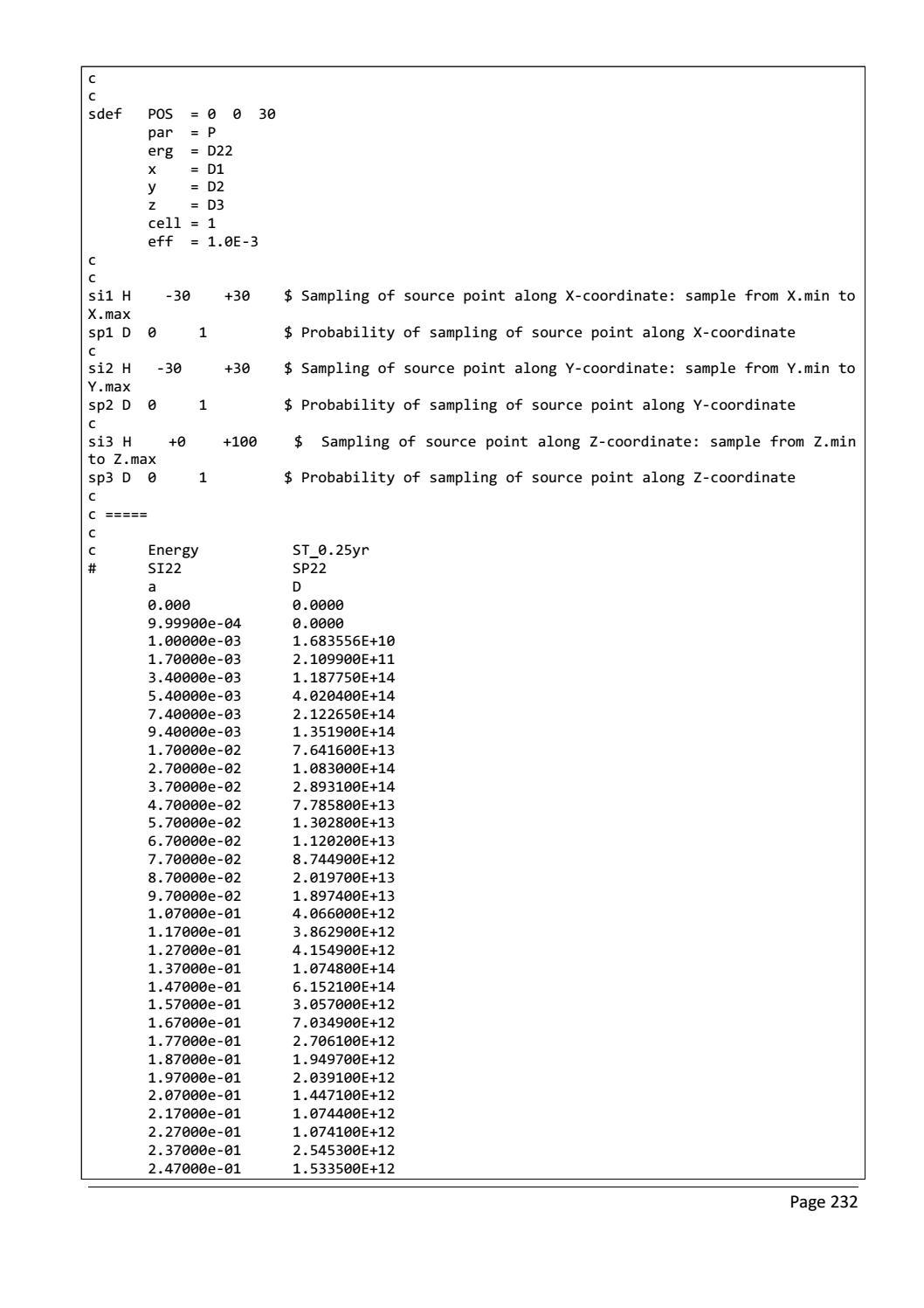 RADIOACTIVE WASTE: COMPUTATIONAL CHARACTERISATION and SHIELDING page 257