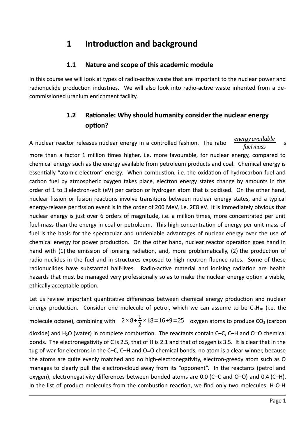 RADIOACTIVE WASTE: COMPUTATIONAL CHARACTERISATION and SHIELDING page 26