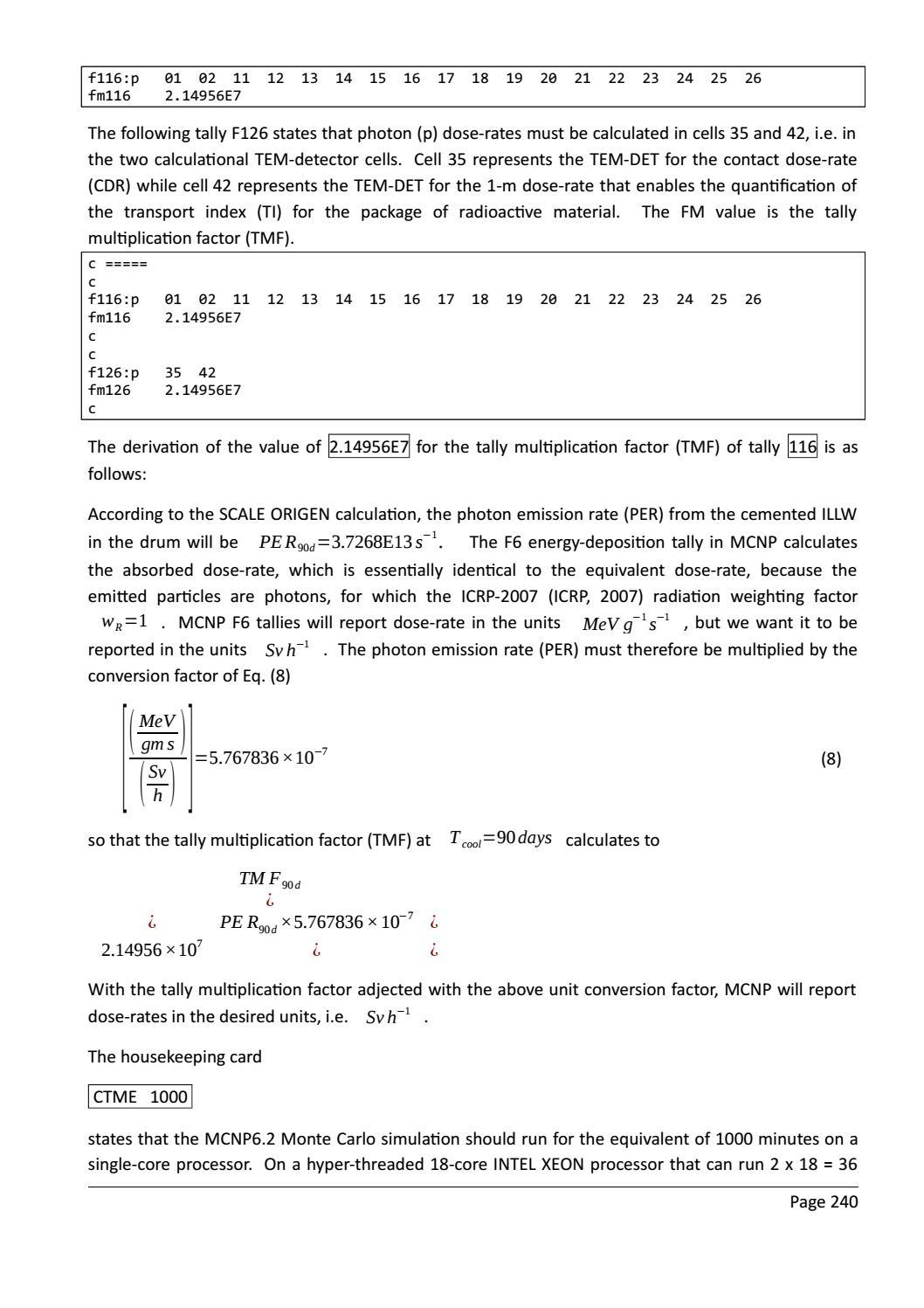 RADIOACTIVE WASTE: COMPUTATIONAL CHARACTERISATION and SHIELDING page 265