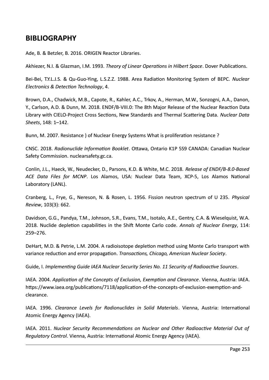RADIOACTIVE WASTE: COMPUTATIONAL CHARACTERISATION and SHIELDING page 278