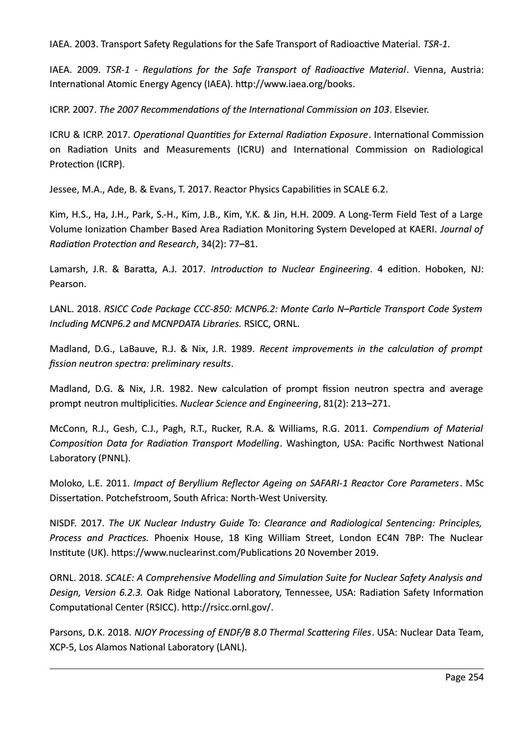 RADIOACTIVE WASTE: COMPUTATIONAL CHARACTERISATION and SHIELDING page 279