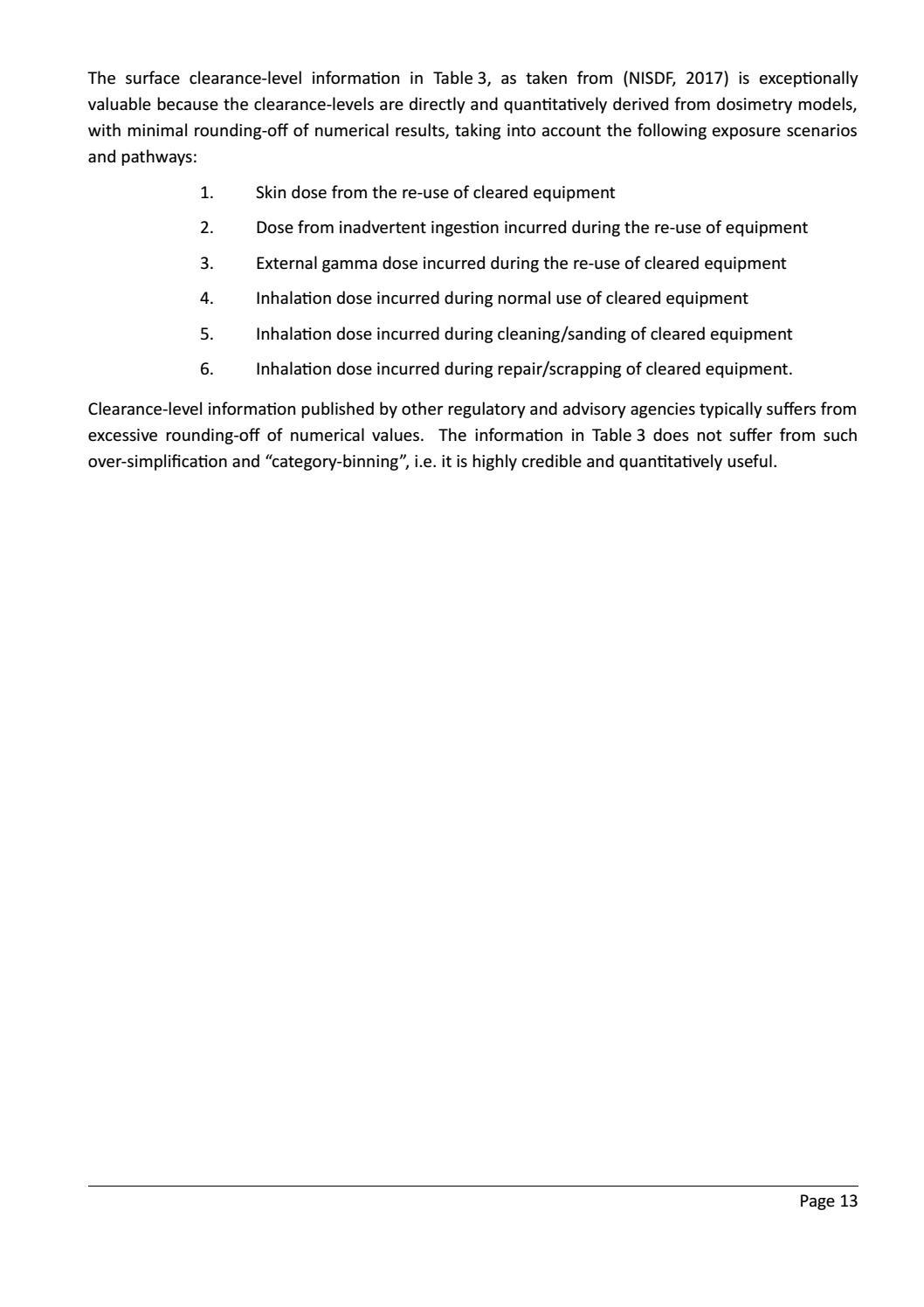 RADIOACTIVE WASTE: COMPUTATIONAL CHARACTERISATION and SHIELDING page 38