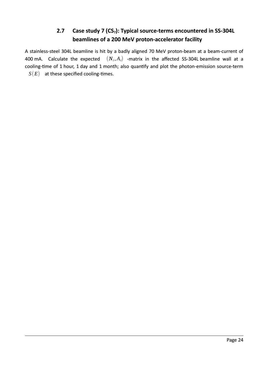 RADIOACTIVE WASTE: COMPUTATIONAL CHARACTERISATION and SHIELDING page 49
