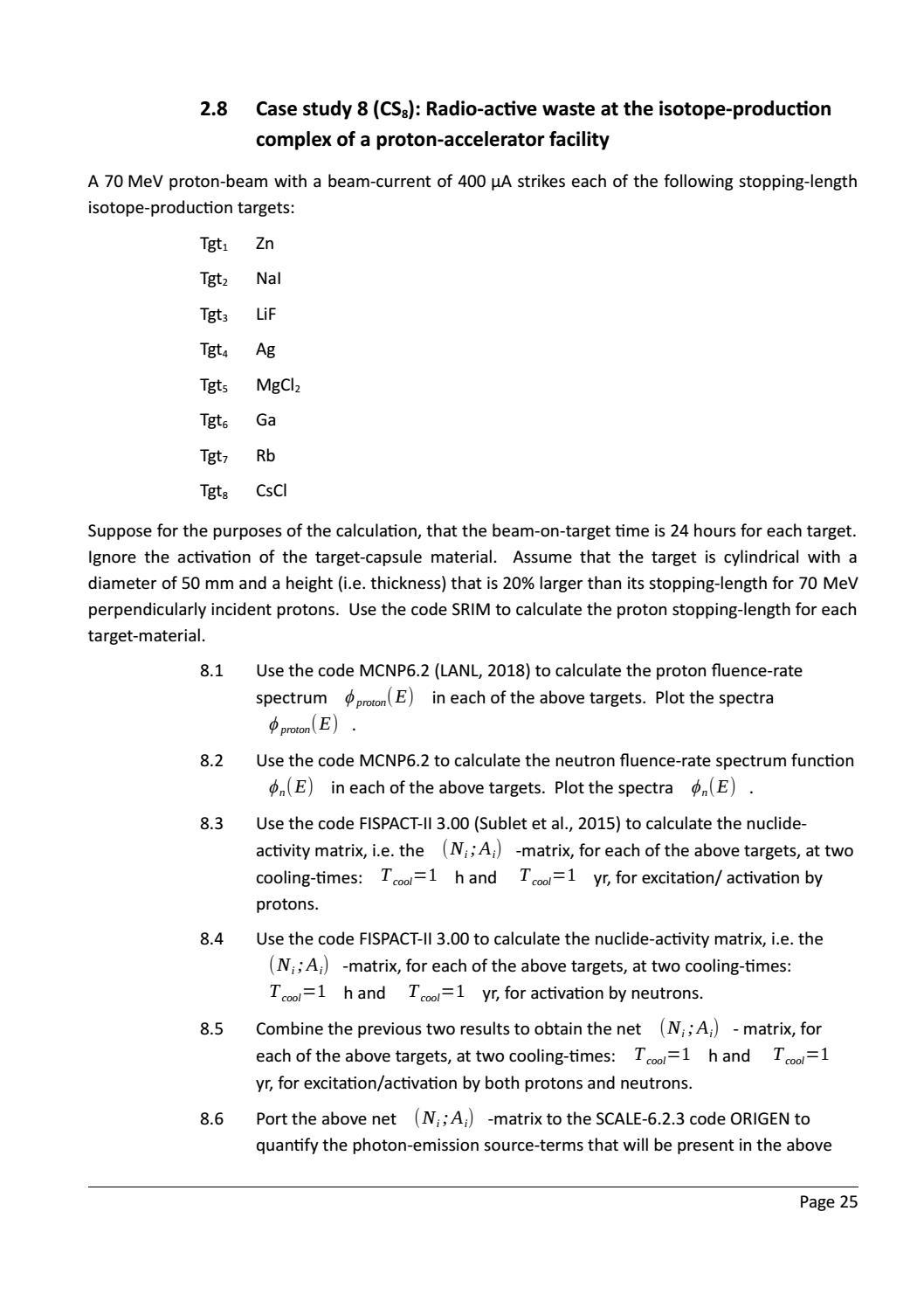 RADIOACTIVE WASTE: COMPUTATIONAL CHARACTERISATION and SHIELDING page 50