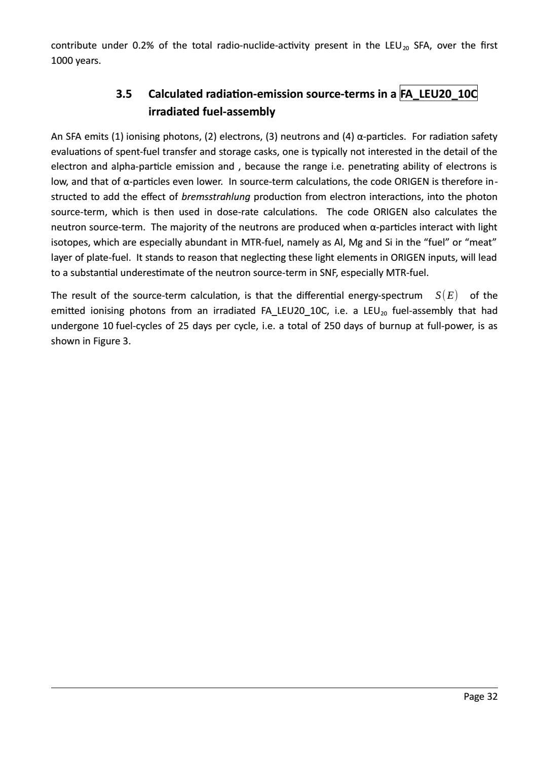 RADIOACTIVE WASTE: COMPUTATIONAL CHARACTERISATION and SHIELDING page 57
