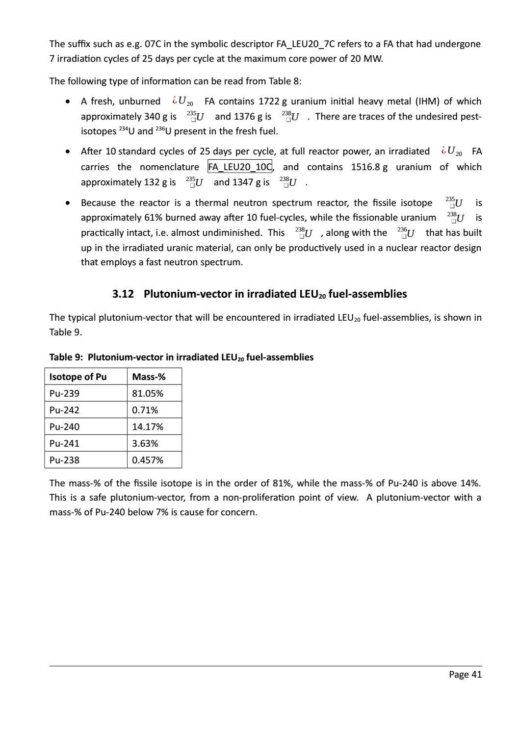 RADIOACTIVE WASTE: COMPUTATIONAL CHARACTERISATION and SHIELDING page 66