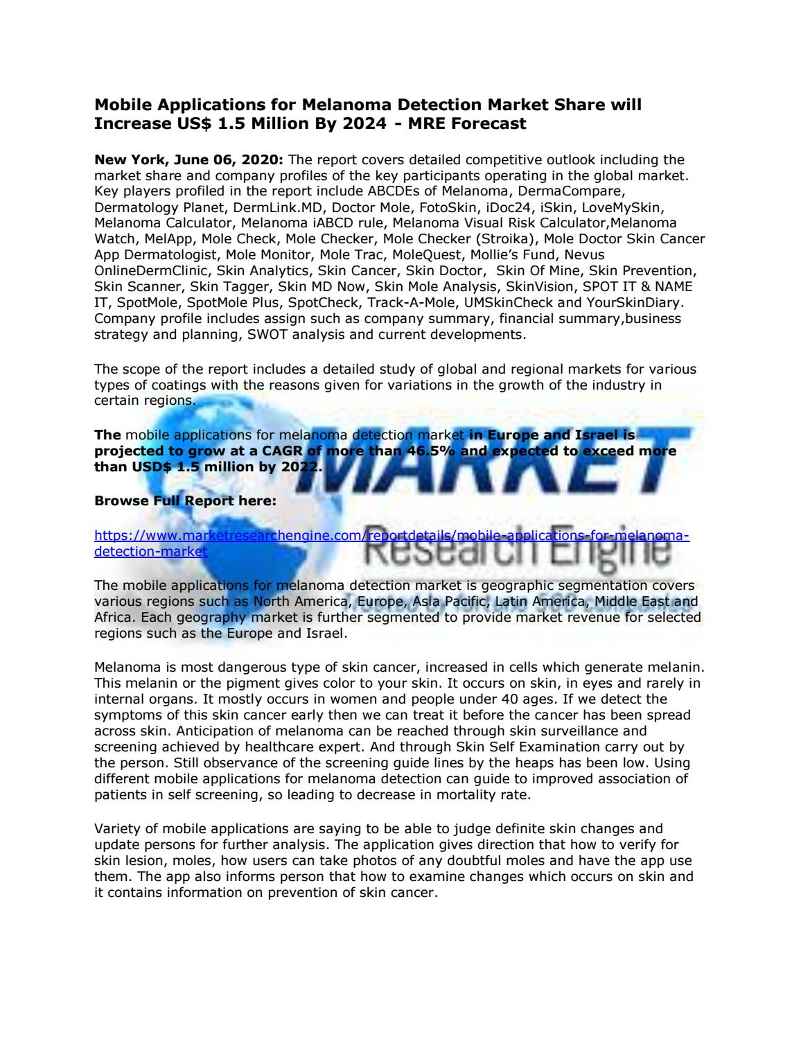 Mobile Applications For Melanoma Detection Market By Danish Smith Issuu