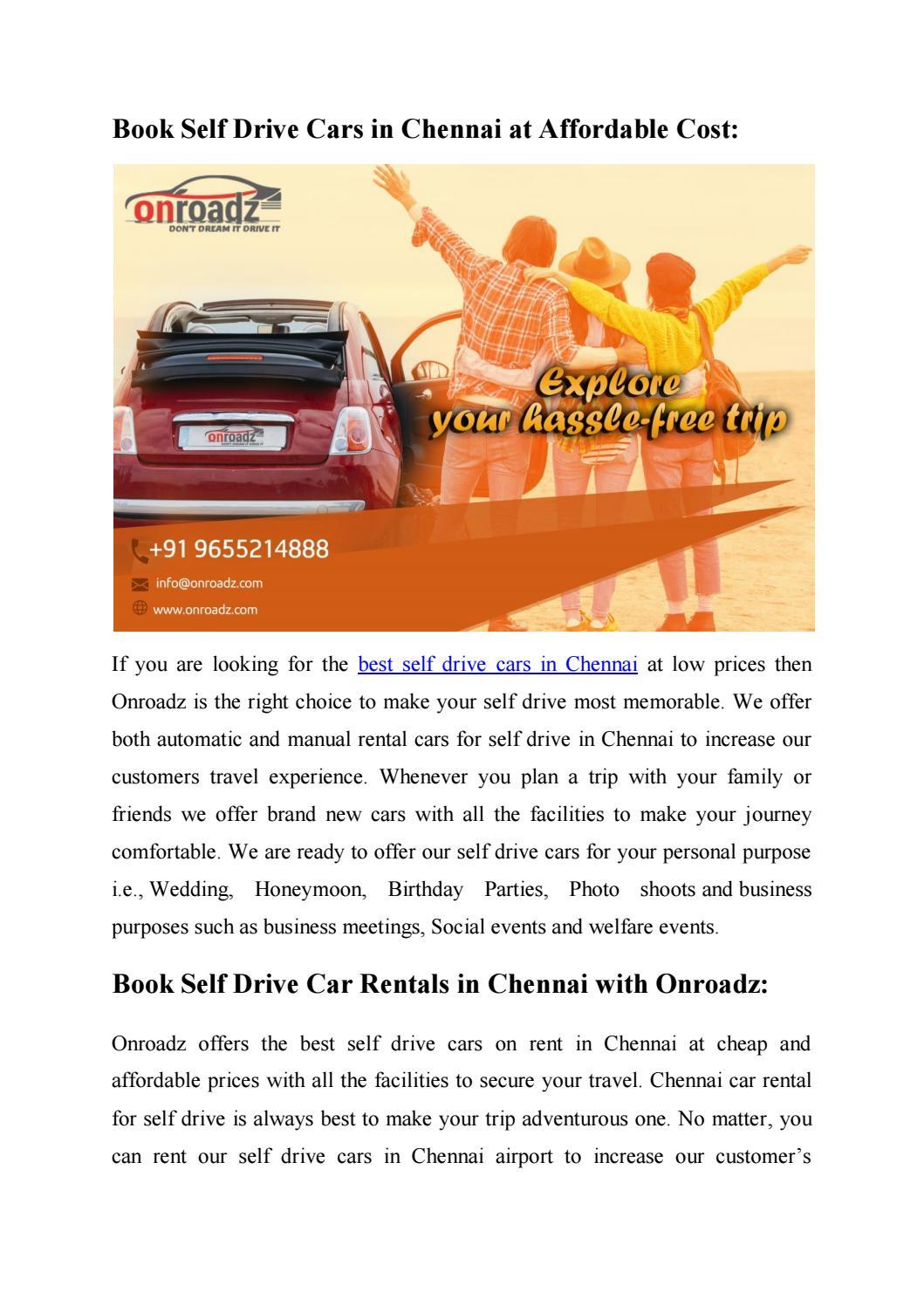 Best Self Drive Cars In Chennai Self Driving Rental Cars In Chennai By Onroadz Car Rental Issuu