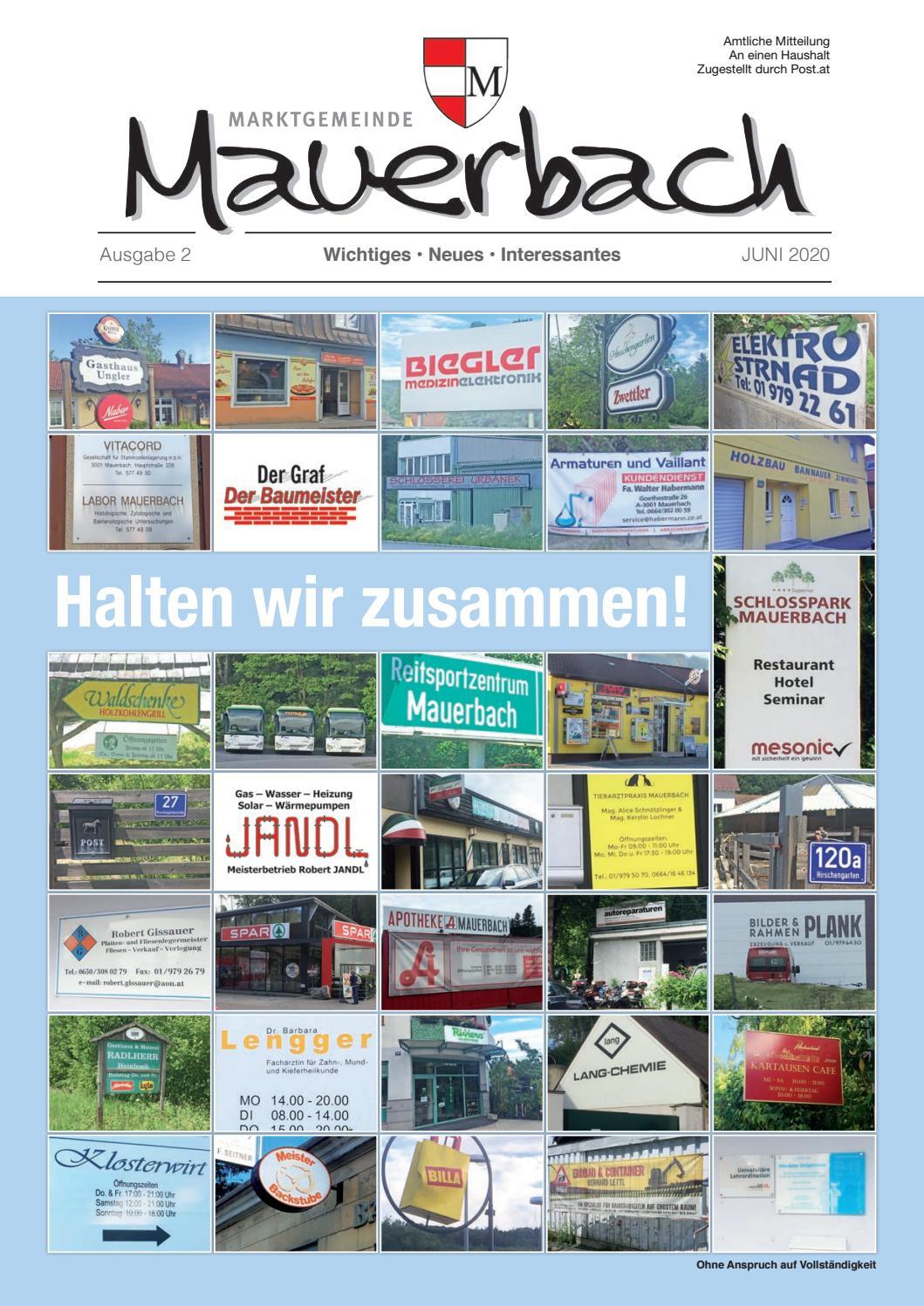 Gemeindezeitung Mauerbach 2/19 by Matthias Pilter - issuu