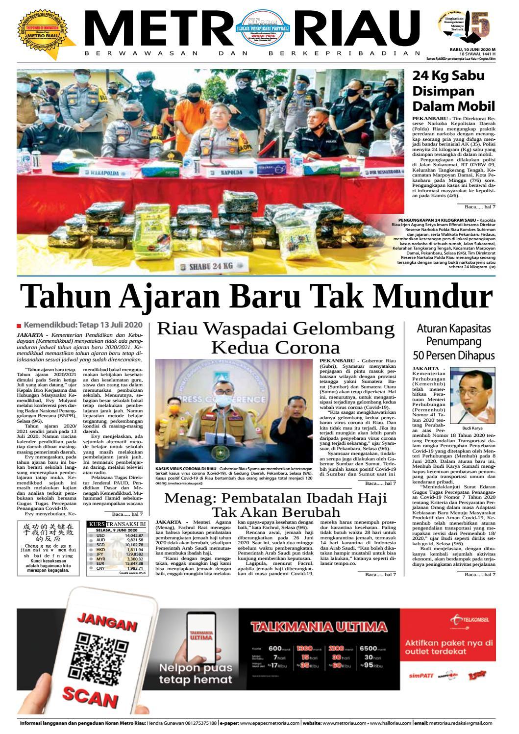 Peristiwa Atau Objek Apakah Yang Nampak Pada Kedua Gambar Diatas Sepeda Dan Motor Metroriau Edisi 10 Juni 2020 By Harian Pagi Metro Riau Issuu