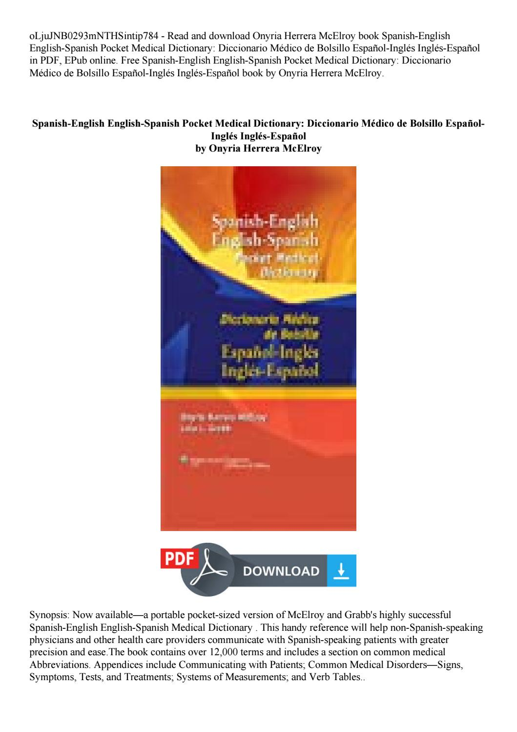 english spanish medical dictionary online free