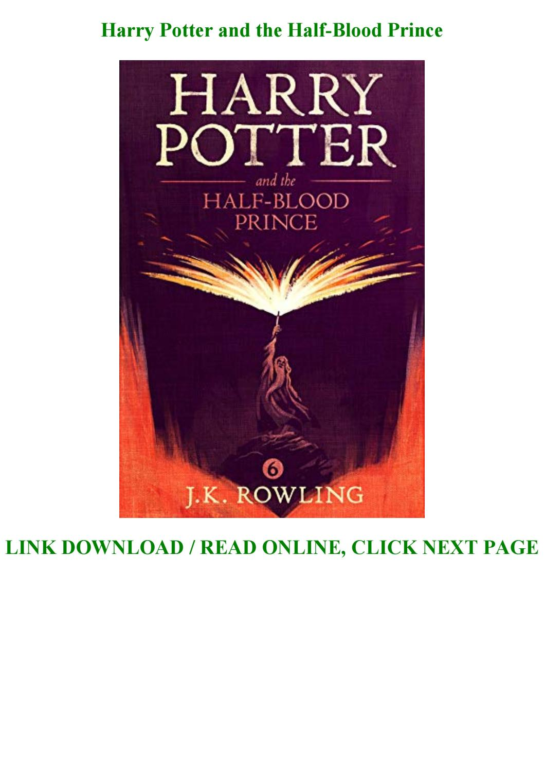 Harry Potter And The Half Blood Prince Full Pdf Online By Francomansor133 Issuu