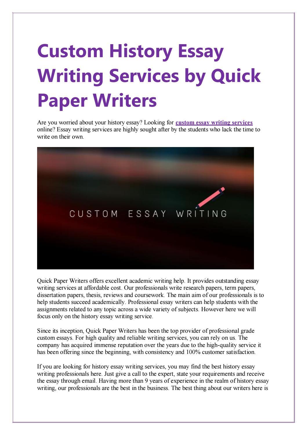 Custom History Dissertation Service