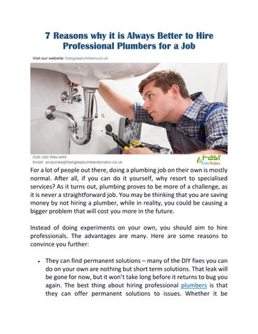 Plumbing Service In Muswell Hill