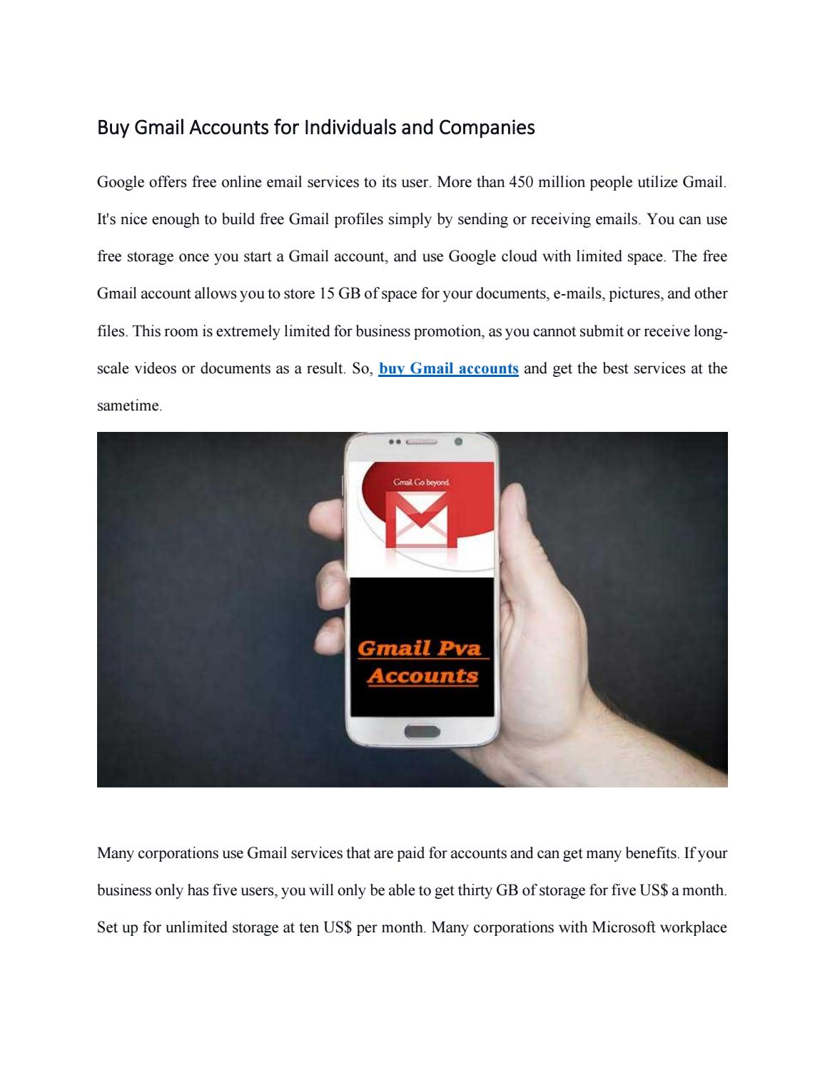 Buy Gmail Accounts For Individuals And Companies By Pvagmailaccs Issuu