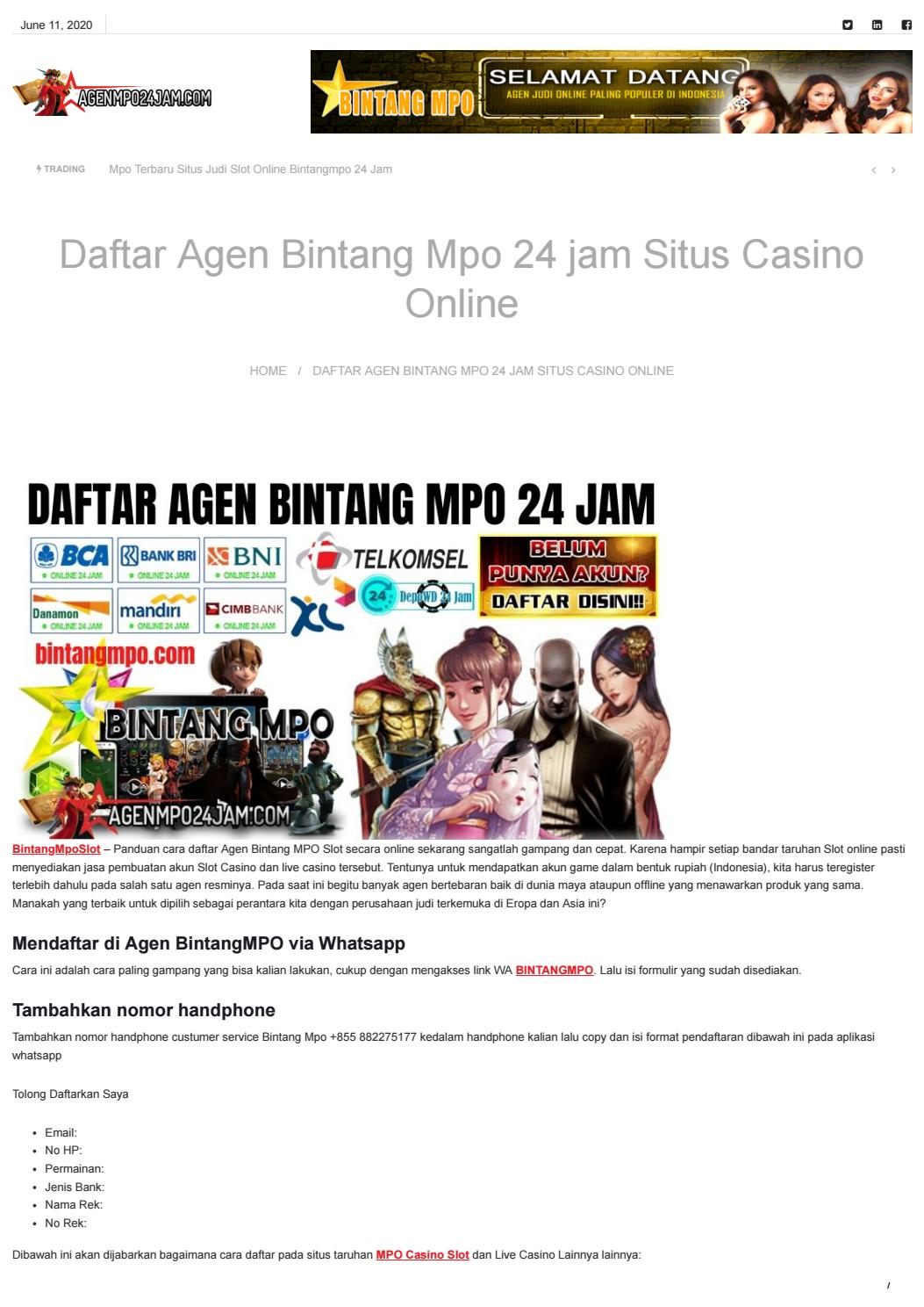 Daftar Akun Mpo Slot Online 24 Jam Deposit Via Pulsa By Super Mpo Slot Pulsa Online 24 Jam Issuu