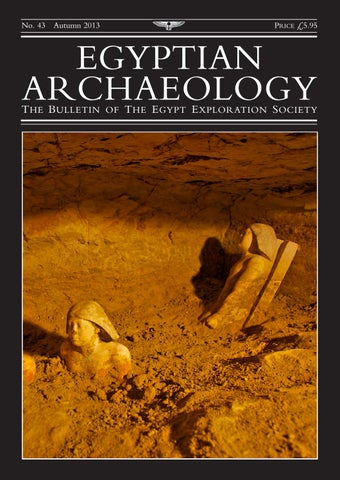 "Cover of ""Egyptian Archaeology 43"""