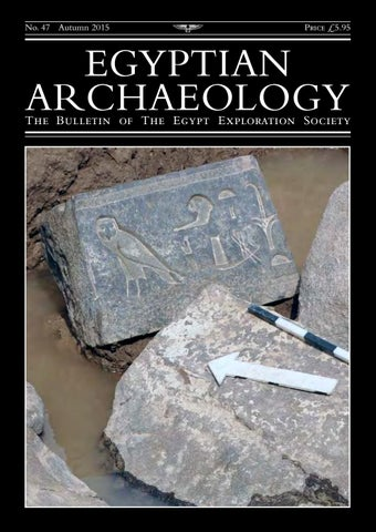 "Cover of ""Egyptian Archaeology 47"""