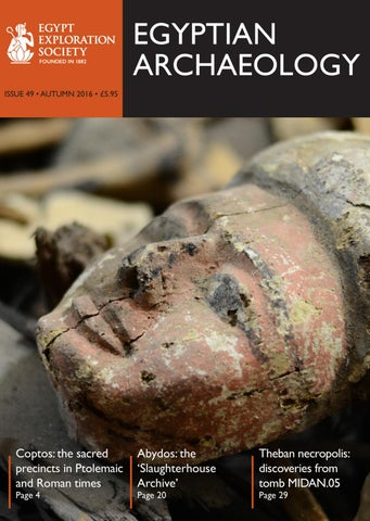 "Cover of ""Egyptian Archaeology 49"""