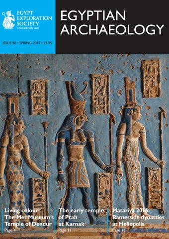 "Cover of ""Egyptian Archaeology 50"""
