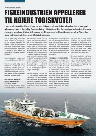 Page 21 of FISKEINDUSTRIEN APPELLERER TIL HØJERE TOBISKVOTER