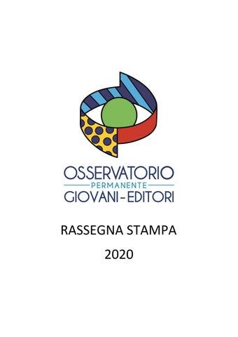 Airc Stella Di Natale 2020.Rs 2020 By Osservatorio Permanente Giovani Editori Issuu