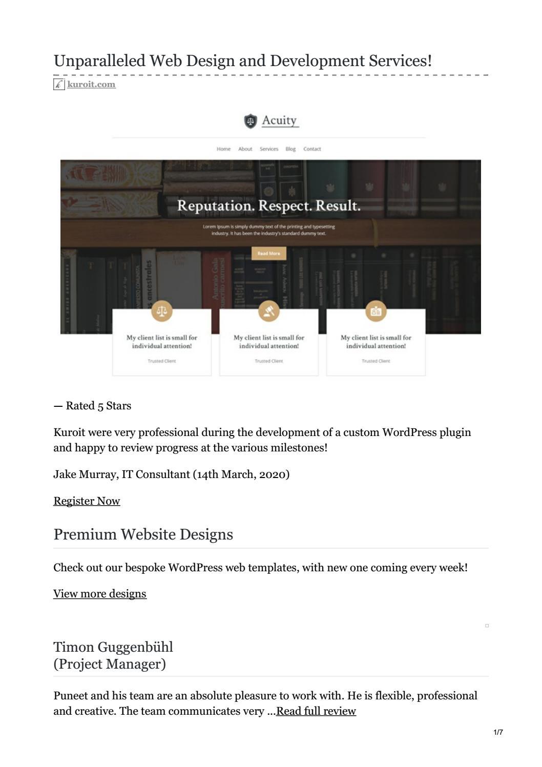 Web Design And Development Agency In London Kuroit By Tapaswini Dash Issuu