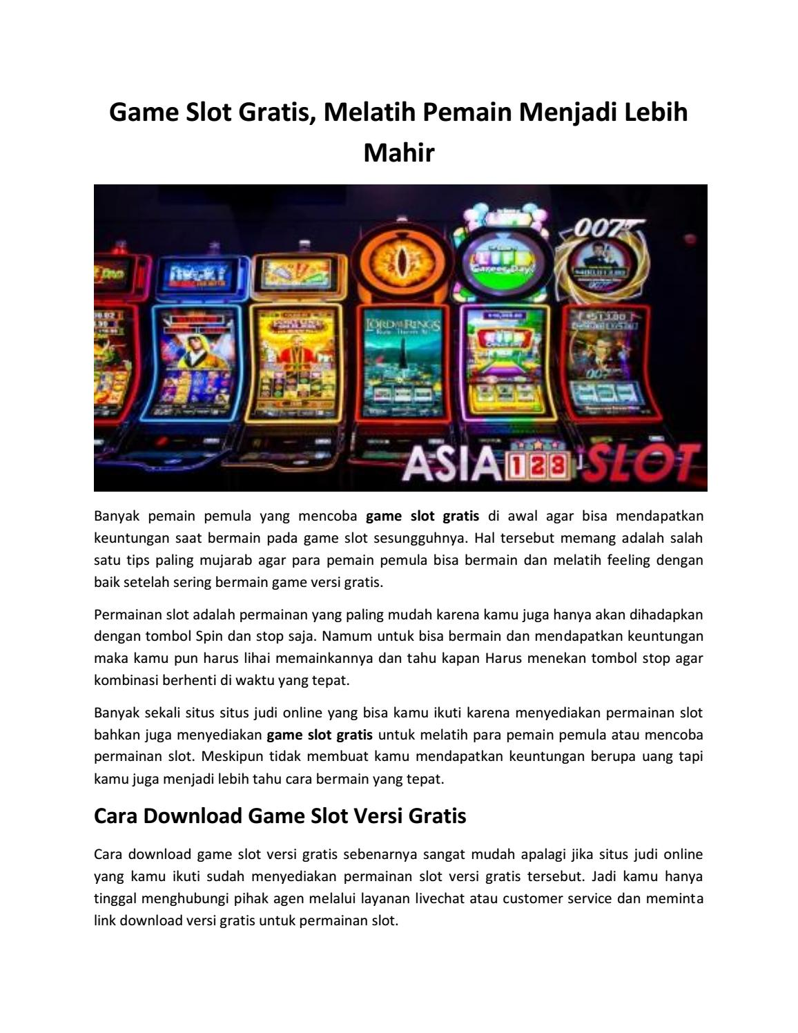 Situs Game Slot Online Gratis Indonesia By Asia123slot Issuu