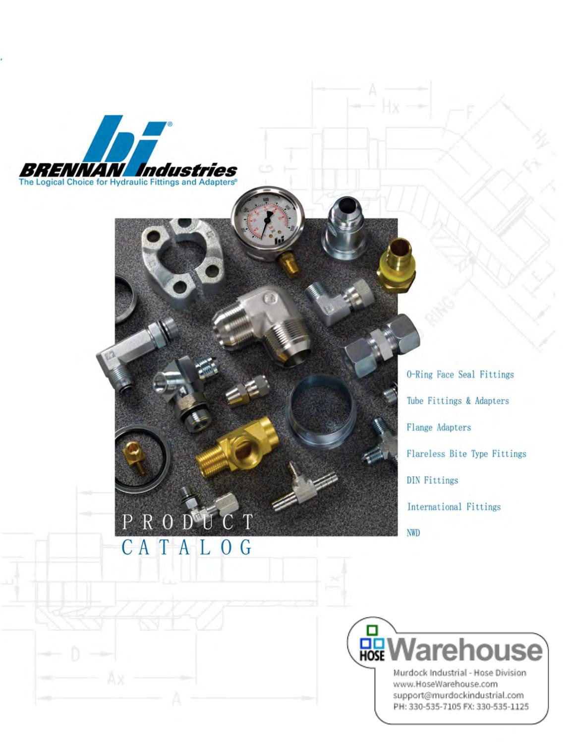 Brennan Industries 6400-05-06-O Steel Straight Tube Fitting 5//16 Male JIC x 5//16 Male O-Ring Boss 1//2-20 SAE x 9//16-18 SAE ORB Thread