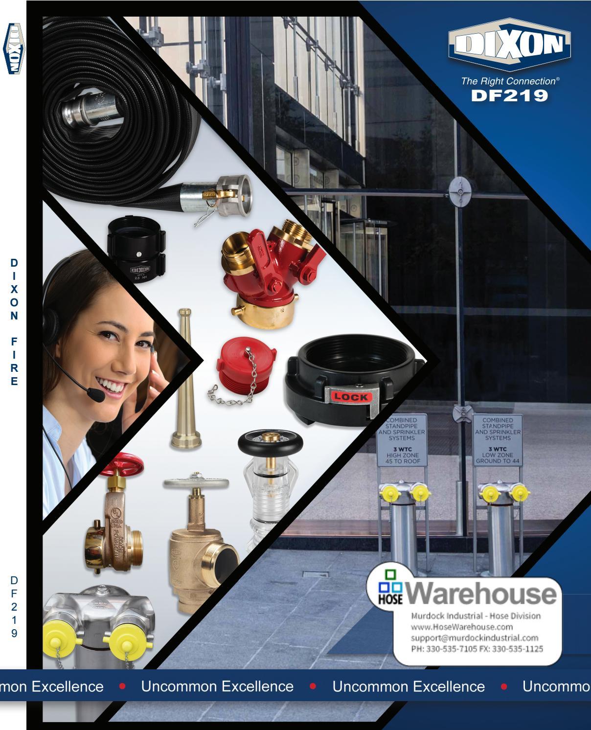 NPSH Hydrant Adapter Rocker Lug Brass 1 NPSH Dixon Valve RHA15S10 Pack of 5 pcs