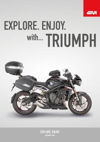 "Cover of ""GIVI. EXPLORE. ENJOY with...TRIUMPH"""