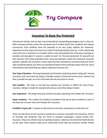 Insurance To Keep You Protected By Try Compare Ltd Issuu