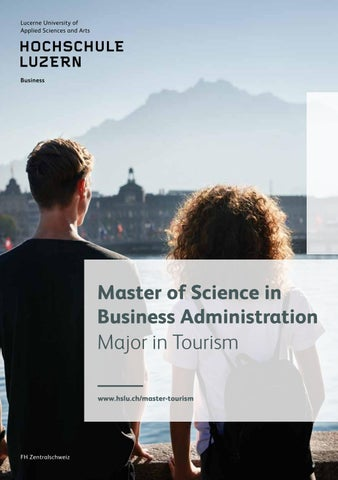 Master Business Administration Major In Tourism Englisch By Hochschule Luzern Issuu