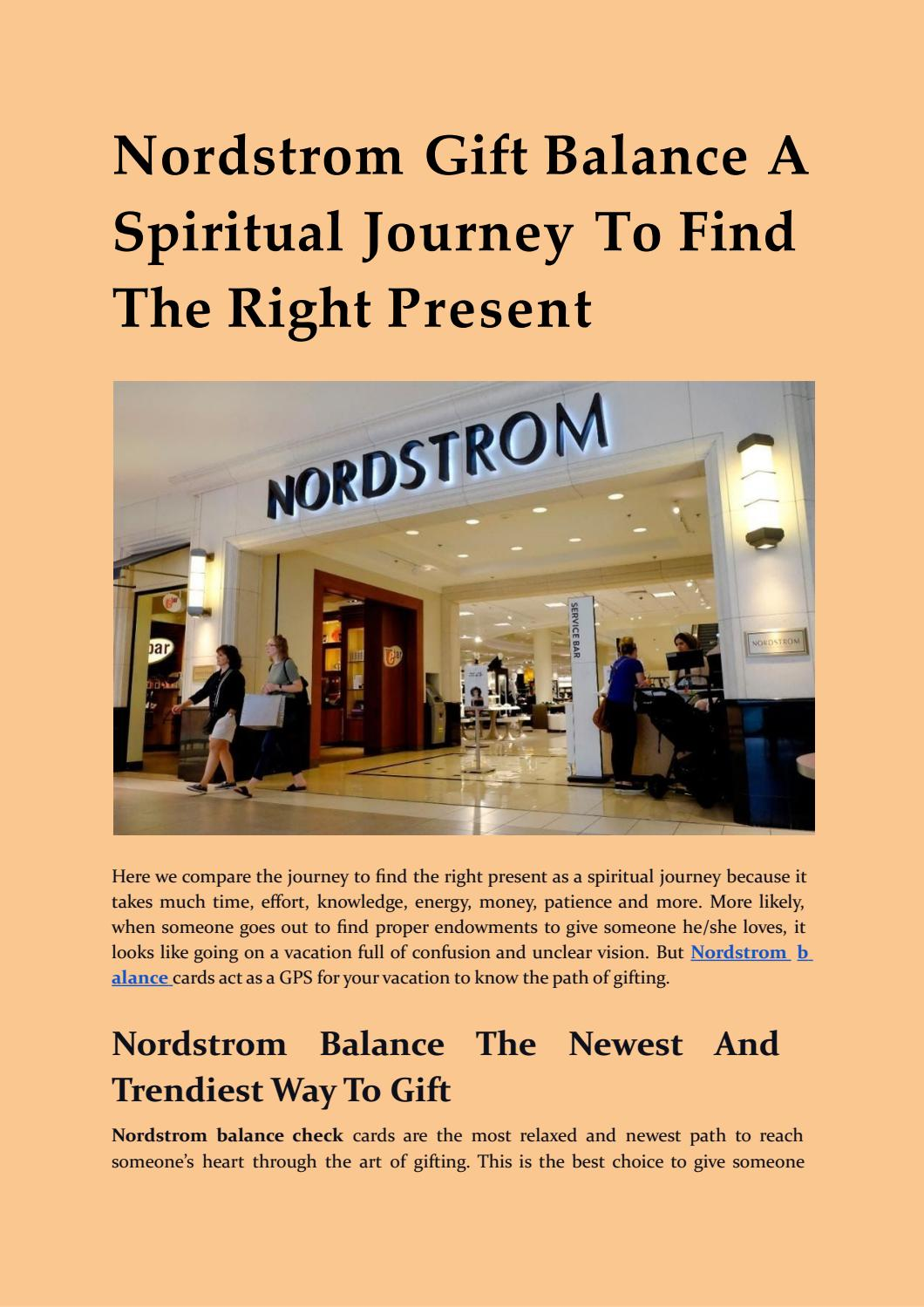 Nordstrom Gift Card Balance Check Nordstrom Card Balance Check By Barryallen4191 Issuu