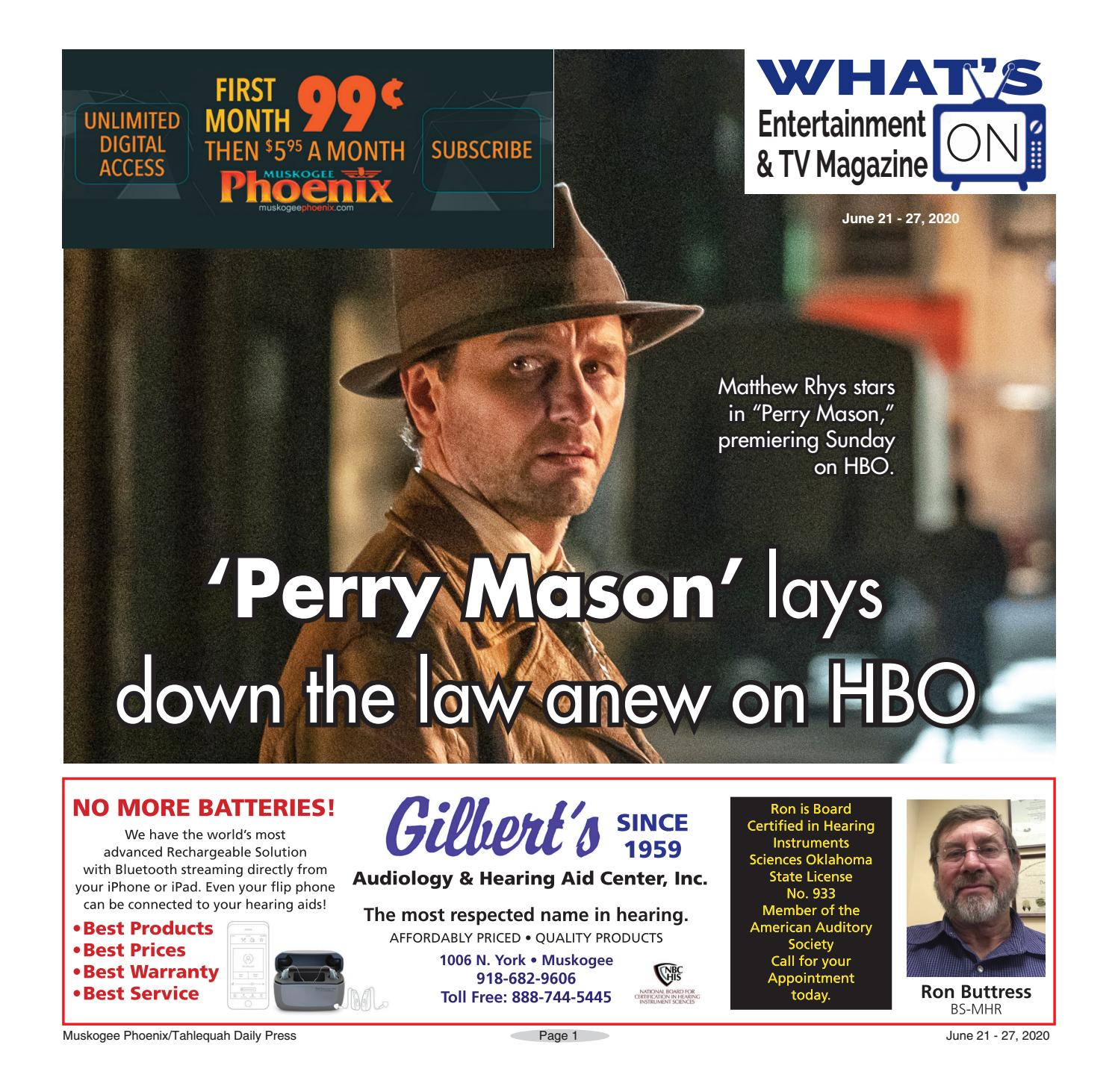 What's on TV 06.21.20 by Muskogee Phoenix - issuu
