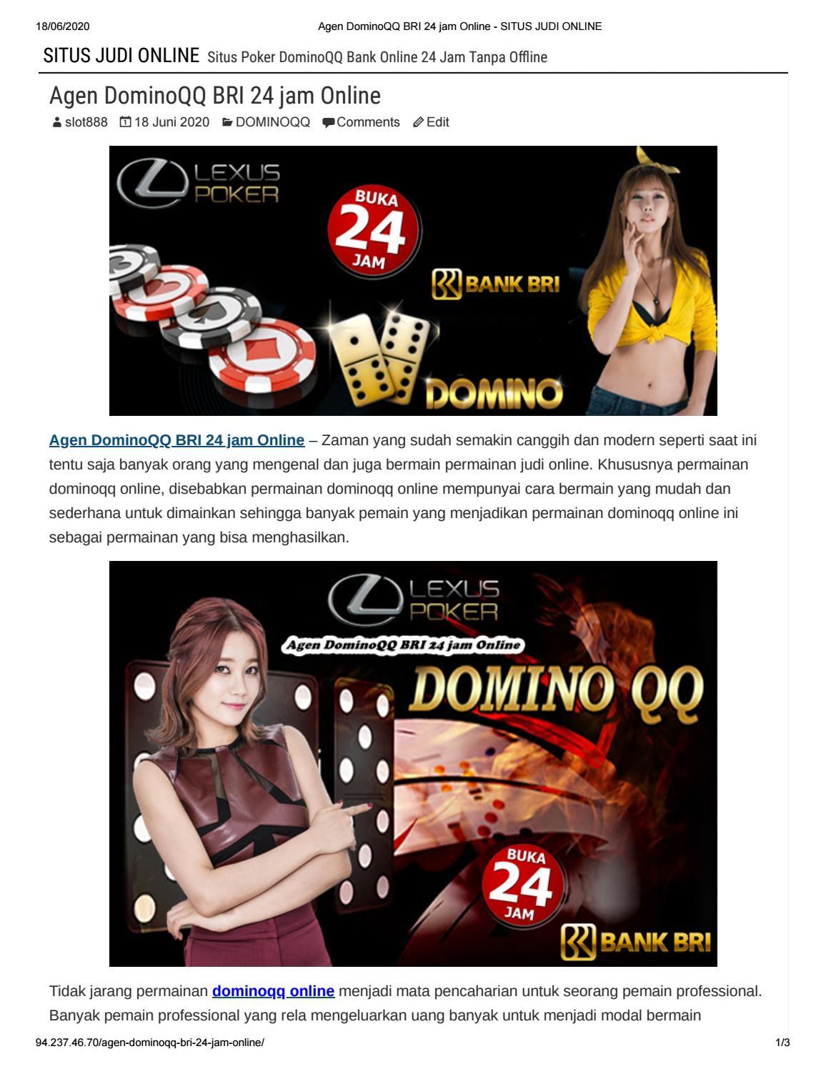Lexuspoker Agen Dominoqq Bri 24 Jam Online By Lexuspoker Issuu
