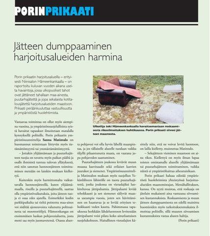Page 16 of Jätteet harjoitusalueiden harmina