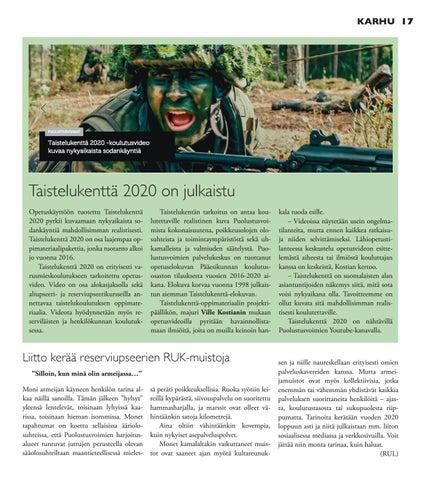 Page 17 of Taistelukenttä 2020 on julkaistu