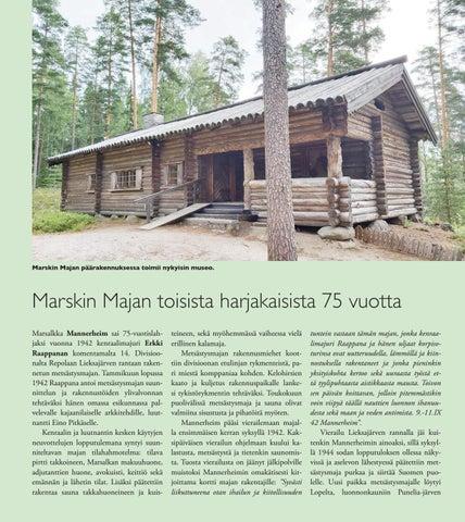 Page 18 of Marskin Majan toisista harjakaisista 75 vuotta