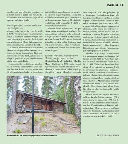 Page 19 of Marskin Majan toisista harjakaisista 75 vuotta
