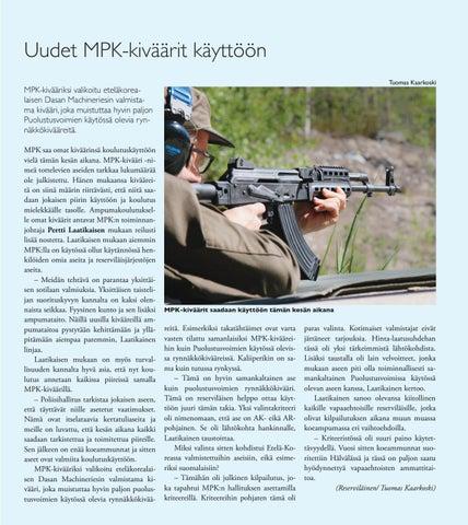 Page 23 of Uudet MPK-kiväärit käyttöön