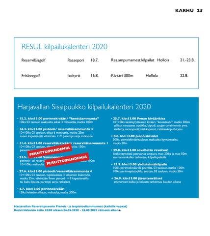Page 25 of RESUL kilpailukalenteri 2020