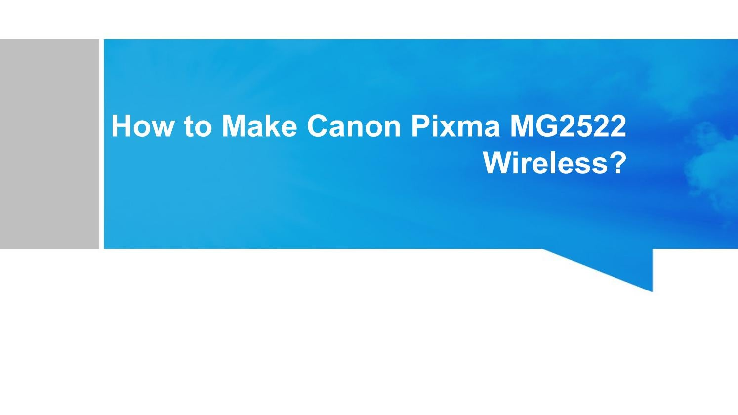 How to Connect Canon MG20 Printer to Wifi   Canon MG20 Wifi ...