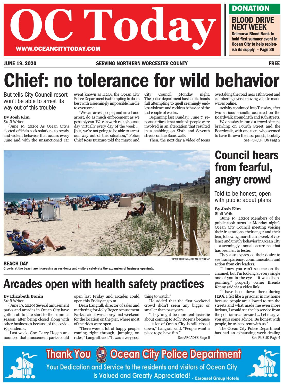 6 19 2020 Ocean City Today By Ocean City Today Issuu