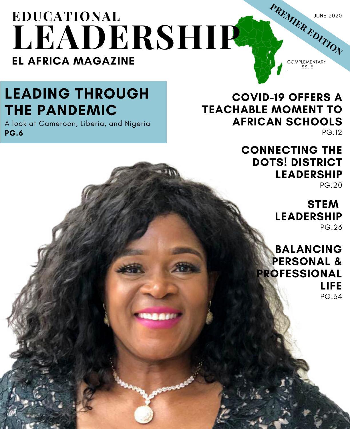 Educational Leadership Africa Magazine Issue 1 By Ada Omile Issuu