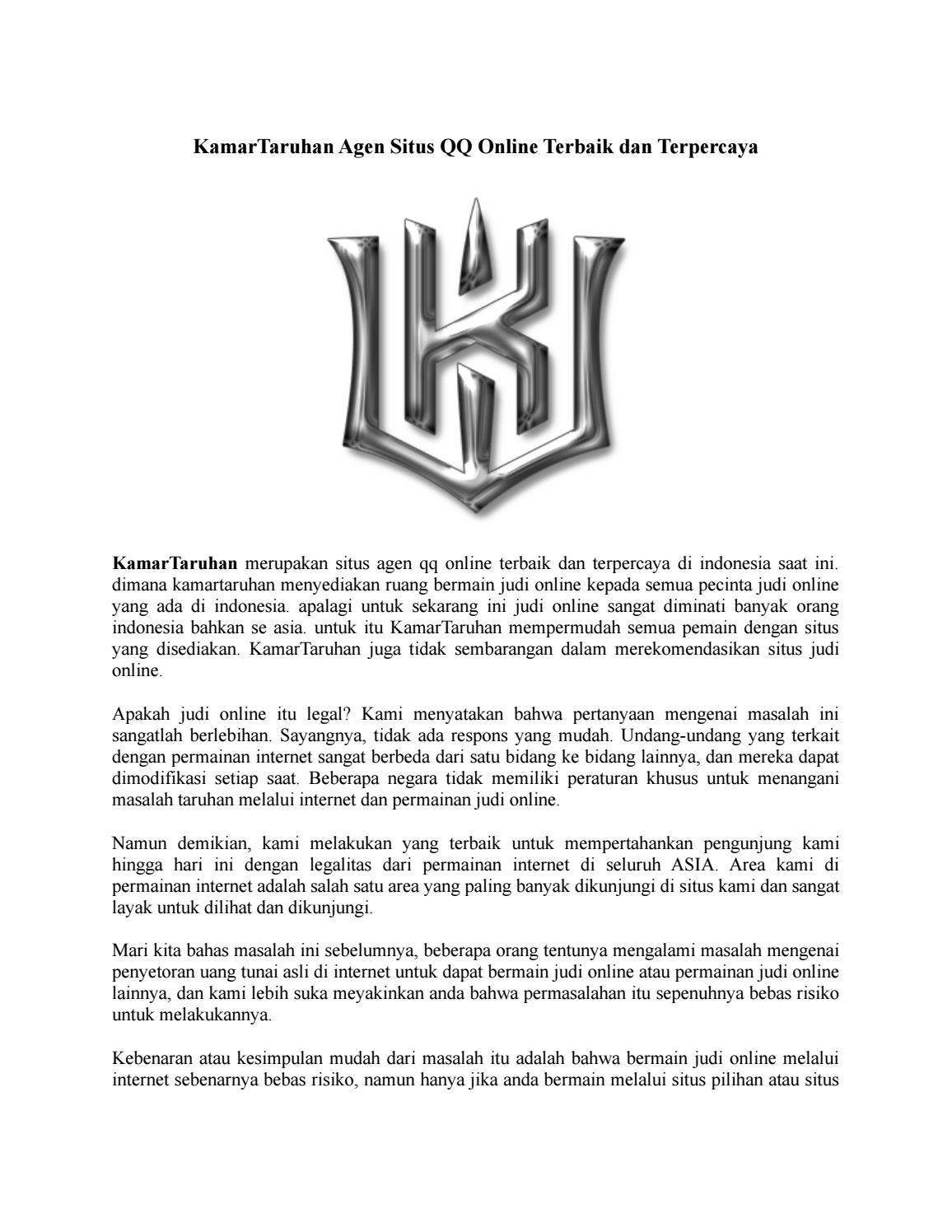 Kamartaruhan Agen Situs Qq Online Terbaik By Kamartaruhan Issuu