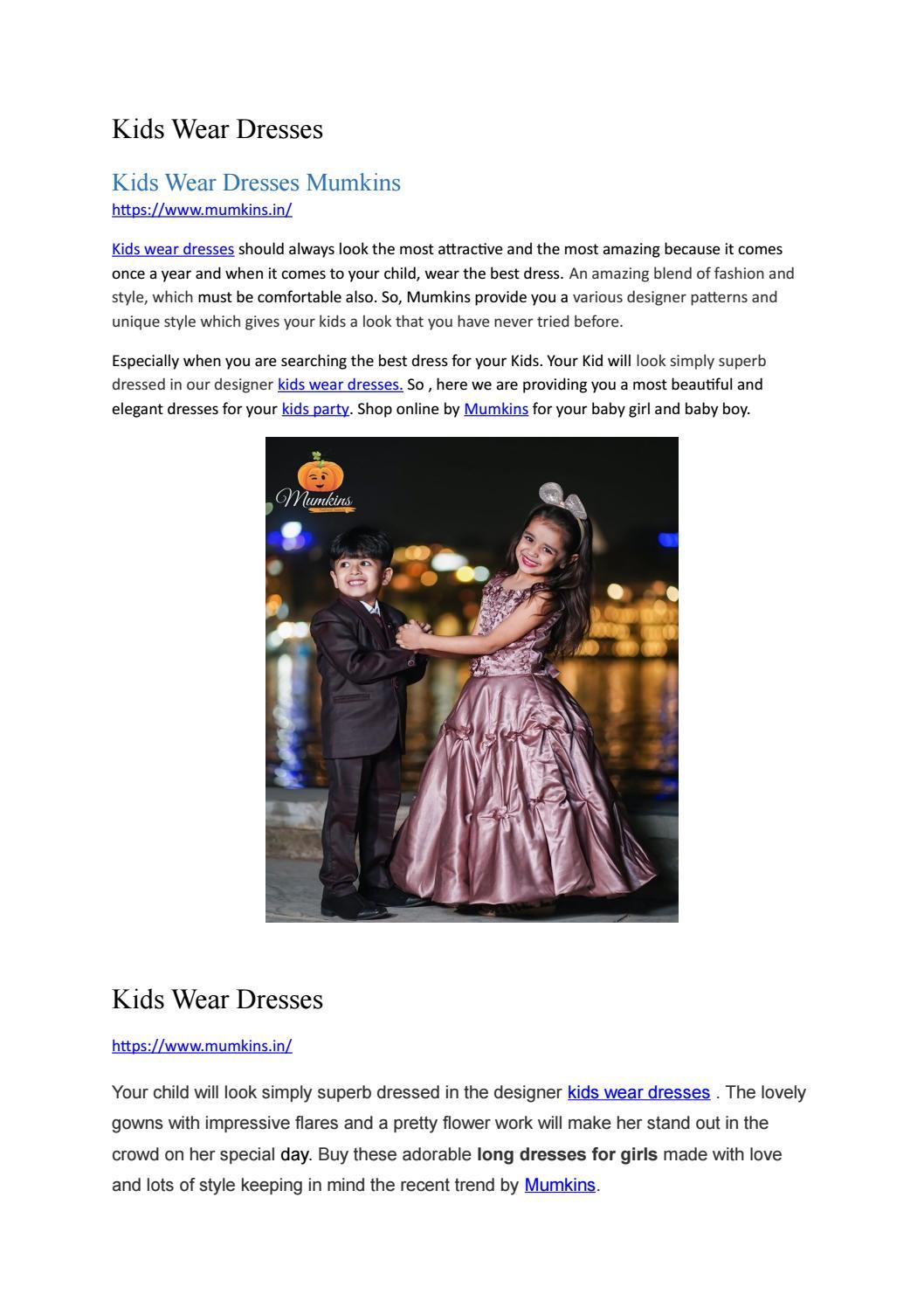 Kids Wear Dresses By Mumkins Seo Issuu